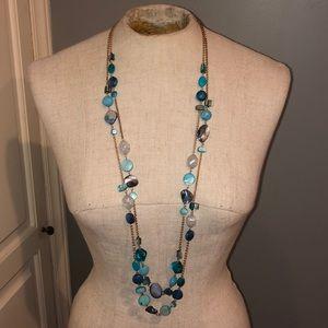 Beautiful blue necklace